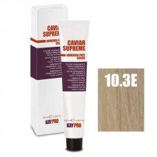 """10.3E """"KAYPRO Caviar Supreme"""" kreminiai dažai be amoniako, EXTRA PLATINUM auksinė blond sp. - 100 ml."""