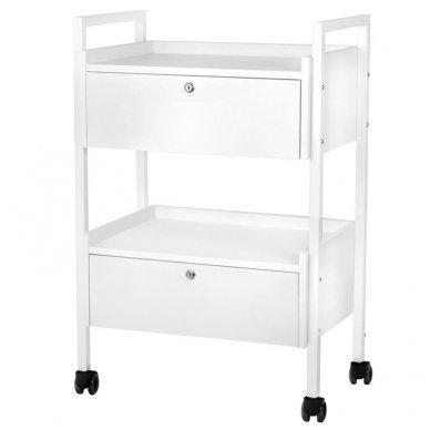 Kosmetologinis staliukas-vežimėlis TYP 1019 , baltos sp.