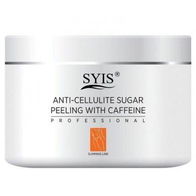 SIYS anticeliulitinis cukraus kūno šveitiklis su kofeinu, 500g