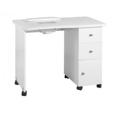 Manikiūro stalas su dulkių sutraukėju 011B, baltos sp.