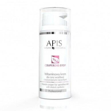 APIS COUPEROSE STOP kremas su vitaminais kapiliarinei odai, 100ml