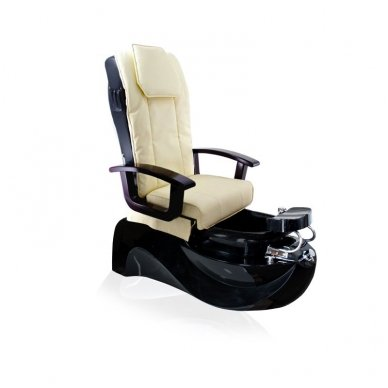 SPA pedikiūro krėslas TS-1204  ECRU/BLACK, su masažo funkcija