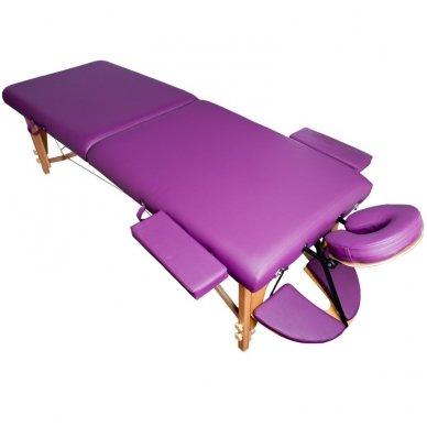 Sulankstomas masažo stalas KOMFORT WOOD AT 006S-3, violetinė sp.