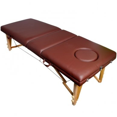 Sulankstomas masažo stalas KOMFORT WOOD AT-009-2, rudos sp.