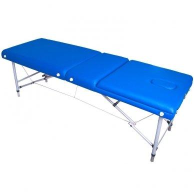 Sulankstomas masažo stalas KOMFORT ALU-003, mėlynos sp.