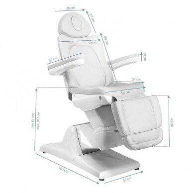Kosmetologinis elektrinis krėslas AZZURRO 870 3 varikliai, baltos sp. 6