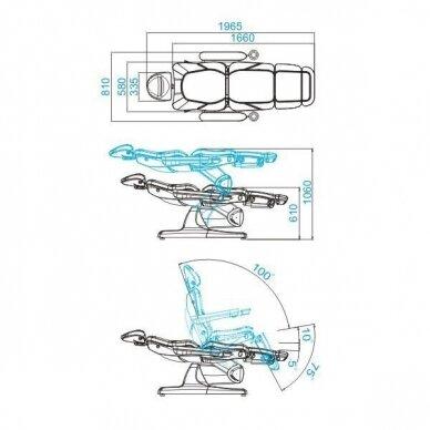 Kosmetologinis elektrinis krėslas AZZURRO 870 3 varikliai, baltos sp. 10