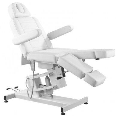 Kosmetologinis elektrinis krėslas AZURRO 706 PEDI, baltos sp. 8