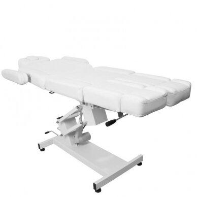 Kosmetologinis elektrinis krėslas AZURRO 706 PEDI, baltos sp. 4