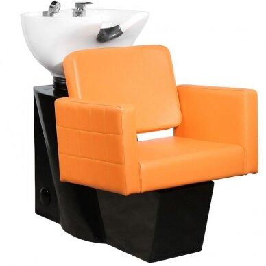 Kirpyklos plautuvė GABBIANO ANKARA, oranžinė - juoda sp.
