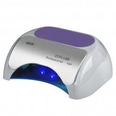 UV lempa nagams LED+CCFL 48W su laikmačiu ir sensoriumi, sidabrinės sp