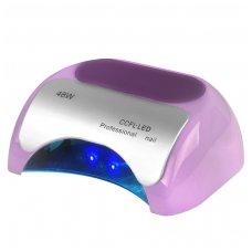 UV lempa nagams  LED+CCFL 48W su laikmačiu ir sensoriumi, violetinės sp.