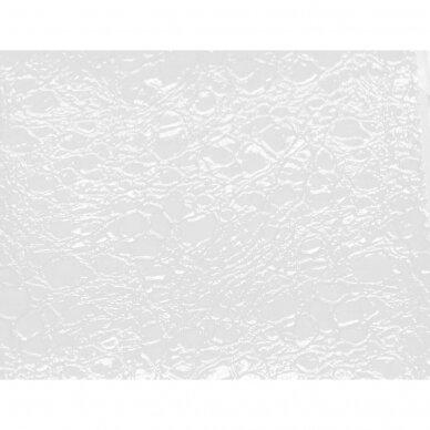 Kirpyklos krėslas ROMA, balta - žalia sp.  2