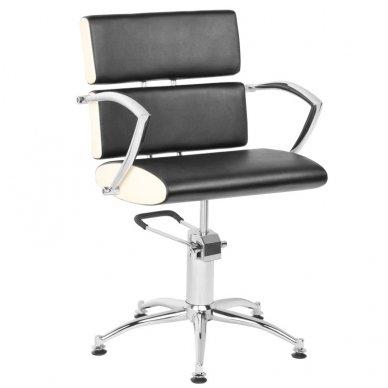 Kirpyklos kėdė GABBIANO ESSEN, juoda-kreminė sp.
