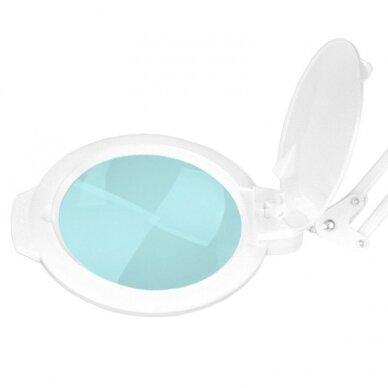 Kosmetologinė LED lempa su lupa 8012 (didina iki 5 kartų) balta 2