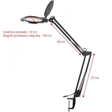 Kosmetologinė LED lempa su lupa 8012 (didina iki 5 kartų) balta 4