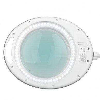 LED lempa su stovu ELEGANTE 6014 60 LED SMD 5D, baltos sp. 8