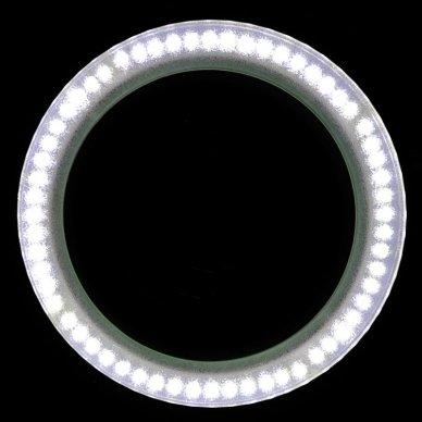 LED lempa su stovu ELEGANTE 6014 60 LED SMD 5D, baltos sp. 9