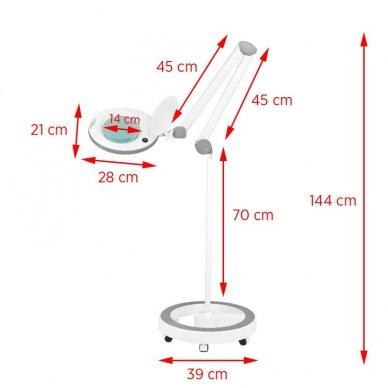 LED lempa su stovu ELEGANTE 6014 60 LED SMD 5D, baltos sp. 2