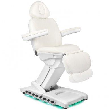 Kosmetologinis krėslas AZZURRO 872 EXCLUSIVE su 4 varikliais ,šildymo funkcija,  LED pašvietimu