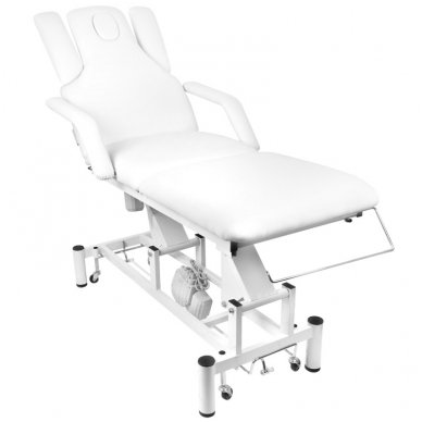 Elektrinis masažo stalas - lova AZZURRO 707A, baltos sp.