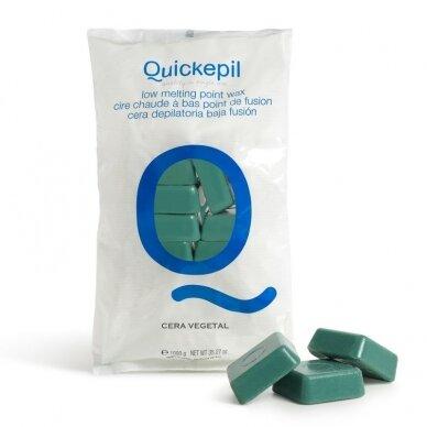 Vaškas depiliacijai Quickepil, VEGETAL, žalias, 1 KG