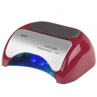 UV LED+CCFL 48W su laikmačiu ir sensoriumi, raudonos sp.