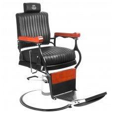 Barber kirpėjo krėslas MASTER, juodos sp.