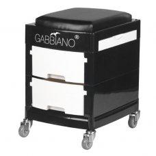 GABBIANO vežimėlis - taboretė, 16-1 BLACK/WHITE
