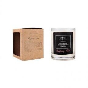 APIS natūrali sojos žvakė RASPBERRY GLOW masažui ir aromaterapijai, 220g