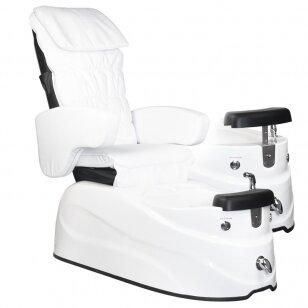 Pedikiūro krėslas PEDICURE SPA AS-122, su masažo funkcija, baltos sp.