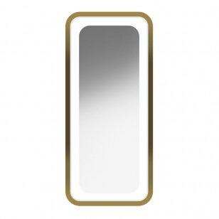 Kirpyklos veidrodis su apšvietimu GABBIANO B094, aukso sp.