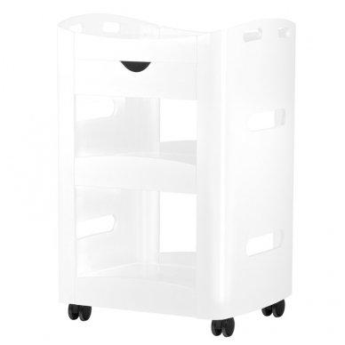 Vežimėlis-staliukas SPA AZZURRO 989, baltos sp.