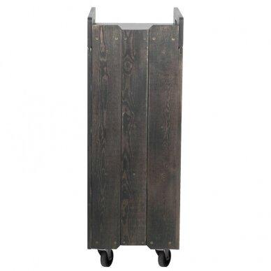 Kirpyklos vežimėlis WOOD, juodos sp.  3
