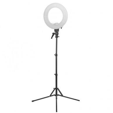 """LED žiedinė vizažo lempa RING LIGHT 12"""" 35W, su stovu"""
