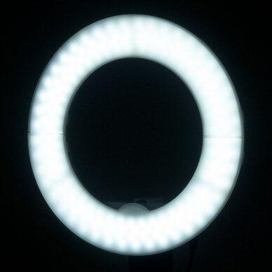 """LED žiedinė vizažo lempa RING LIGHT 12"""" 35W, su stovu 12"""