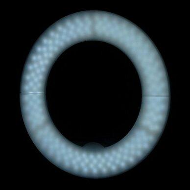 """LED žiedinė vizažo lempa RING LIGHT 12"""" 35W, su stovu 13"""