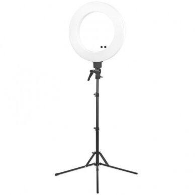 """LED žiedinė vizažo lempa RING LIGHT 18"""" 48W, su stovu"""