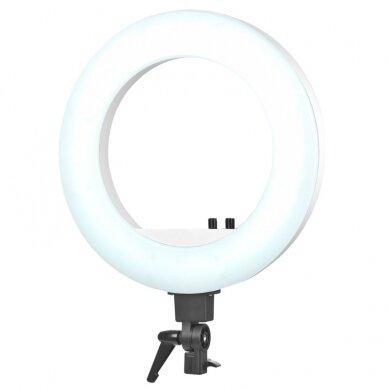 """LED žiedinė vizažo lempa RING LIGHT 18"""" 48W, su stovu 7"""