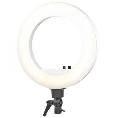 """LED žiedinė vizažo lempa RING LIGHT 18"""" 48W, su stovu 8"""