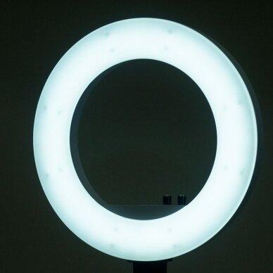 """LED žiedinė vizažo lempa RING LIGHT 18"""" 48W, su stovu 9"""