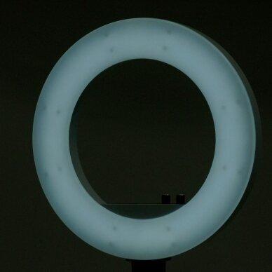 """LED žiedinė vizažo lempa RING LIGHT 18"""" 48W, su stovu 11"""