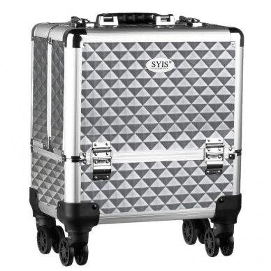 Elegantiškas manikiūro priemonių lagaminas SYIS, sidabrinis
