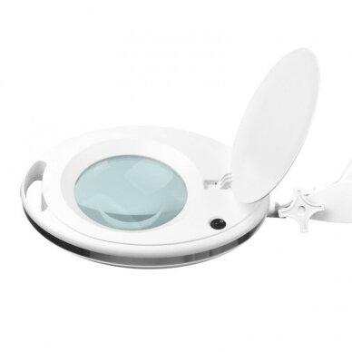 Kosmetologinė LED lempa su lupa 6027, didina iki 5 kartų, 60 led. 4