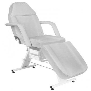 Mechaninis kosmetologijos krėslas BASIC 202 su 2 stalčiais, pilkos sp.