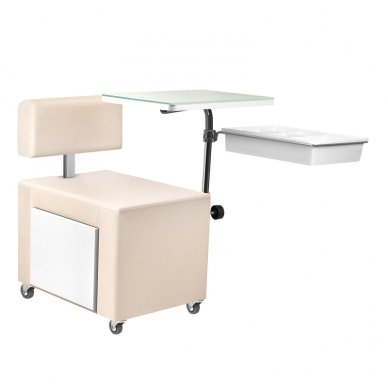 Pedikiūro kėdutė ir staliukas 2 in 1 su stalčiumi 3
