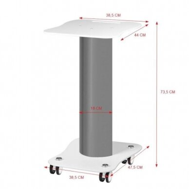 Kosmetologinis vežimėlis - staliukas prietaisams 2
