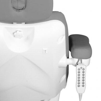 Kosmetologinis elektrinis krėslas AZZURRO 878 5 varikliai, pilkos sp. 10