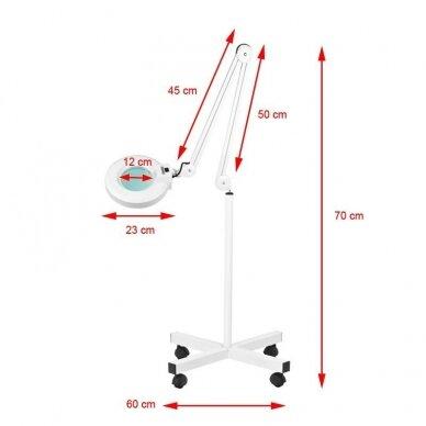 Lempa su lupa LED S4 + stovas 4