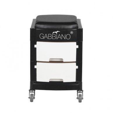 GABBIANO vežimėlis - taboretė, 16-1 BLACK/WHITE 3